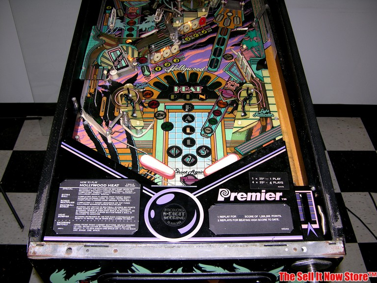 1986 Gottlieb Hollywood Heat Premier Pinball Machine Arcade Game Coin Op  80s USA | eBay